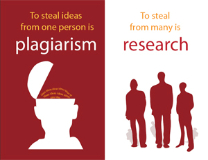 plagiarism and research